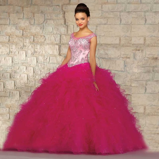 2016 nuevo estilo De moda Organza del vestido De bola largo quinceañera Vestidos para las niñas 15 años Vestidos De 15 años dulce 15 Vestidos