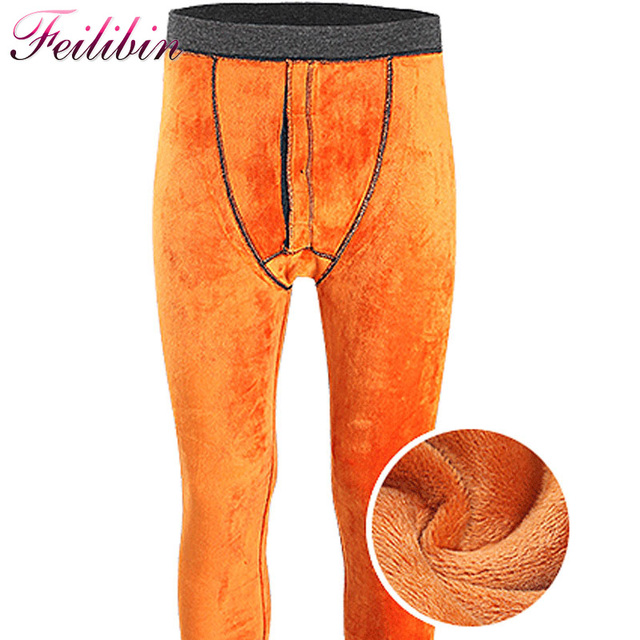 ba4cb70cd8ea Feilibin Winter Mens Warm Leggings Thick Men Long Johns Plus Size Warm  Underwear Elastic Tights Add Wool Men Thermal Warm Pants