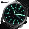 INFANTRY Men Quartz Watches Military Waterproof Black Durable Nylon Strap Wristwatch Luminous Sports Watch Relogios Masculinos