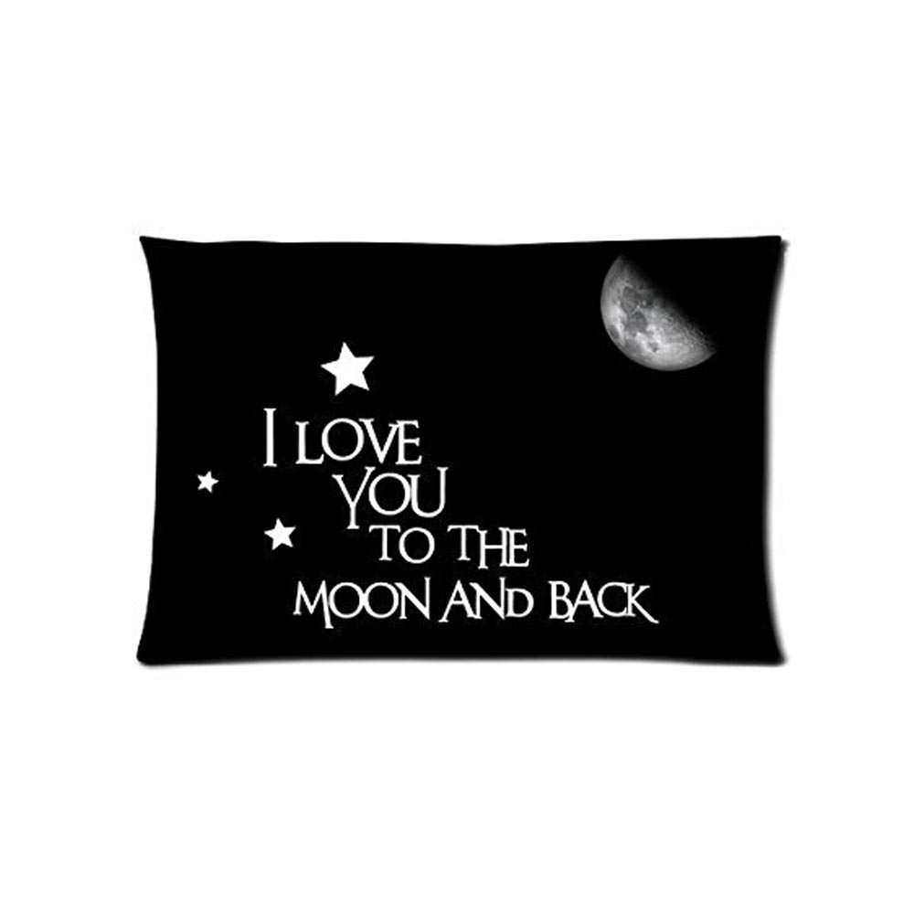 I Love You To The Moon And Back Rectangle Pillowcase Decorative pillow cover Hot Bedding Set Comfortable