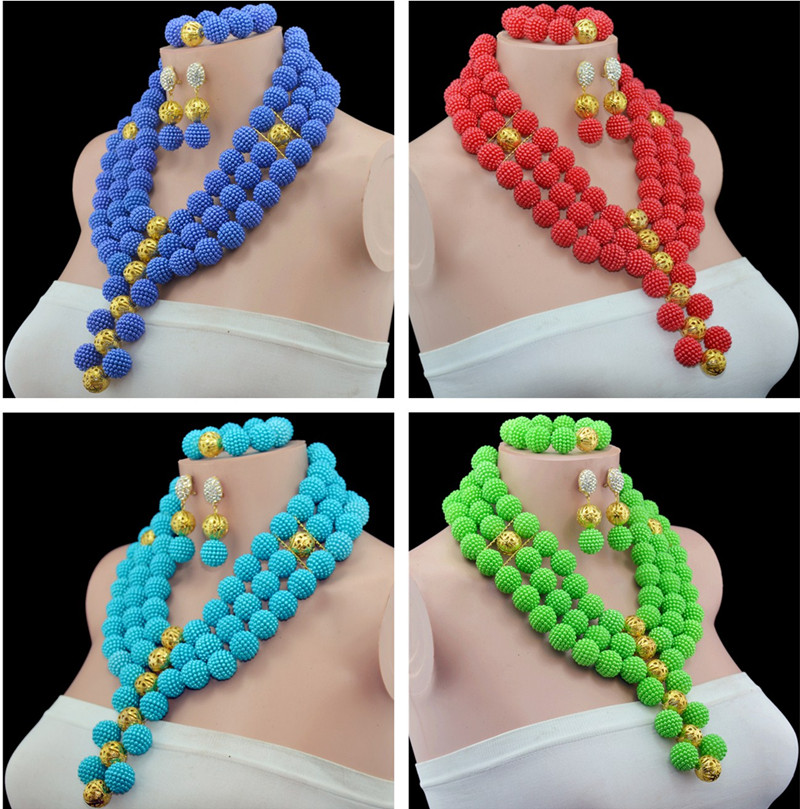 Multi Layers African Beads Jewelry Set Nigerian Wedding African Beads Imitation Pearl Jewelry Sets Adornment Beads Necklace Set цена 2017