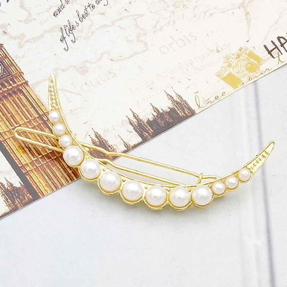 1pcs Fashion Personality wild moon set pearl hairpin sun circle hairpin women's side clip popular hair accessories Dropshipping