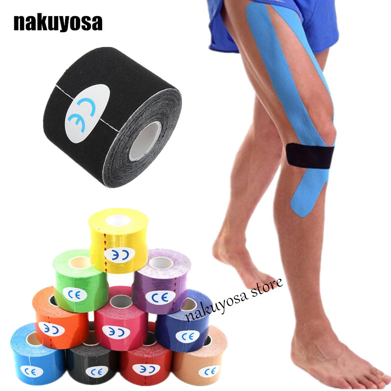100rolls Muscle Tape 5cm x 5m Tape Kinesiology Tape Cotton Elastic Adhesive Muscle Bandage Care Physio