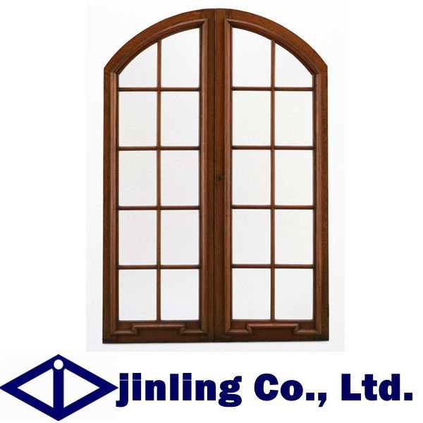 Wooden window arch top window window grill design in for Arch top windows