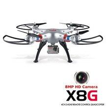 Hot Syma Headless Modo X8G 2.4G 4CH RC Quadcopter Helicóptero Drones Con Cámara de 8MP HD Modelo 2