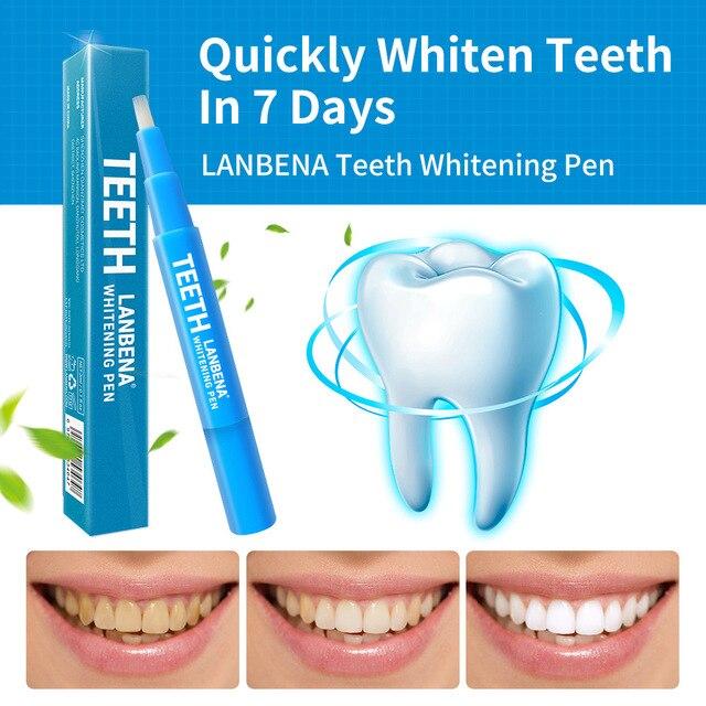 1 piezas LANBENA 3 ML pluma blanqueadora de dientes Dental Gel blanqueador de cepillo de dientes pluma productos eficazmente hacer tour dientes blancos TSLM1
