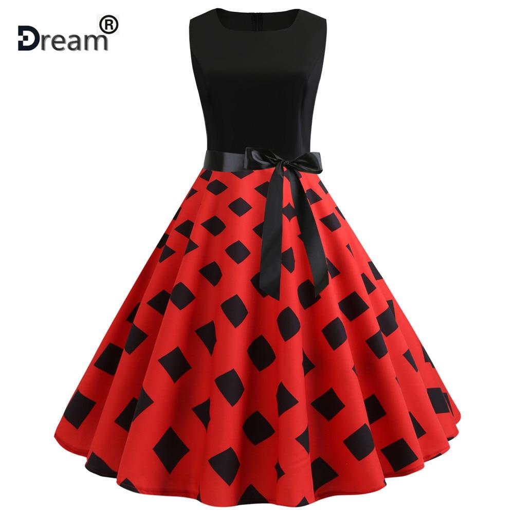 ce24124e Pani lat 50 lat 60 ROCKABILLY sukienka w stylu Vintage styl huśtawka ...