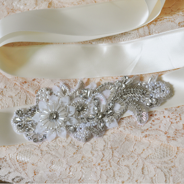 TOPQUEEN FREE SHIPPING S281 Rhinestones Pearls Wedding Belts Wedding sashes,Rhinestones Pearls Bridal Belts Bridal Sashes.
