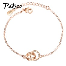 Korean Style Women Double Hollow Bracelet Elegant Smooth Adjustable Chain Jewelry Romantic Bracelet Gift For Lovers elegant hollow out body chain for women