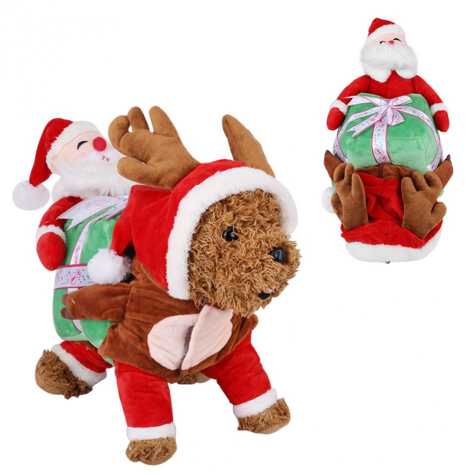 Pet Santa Claus Costume Dog Costume Pet Dog Santa Funny ...