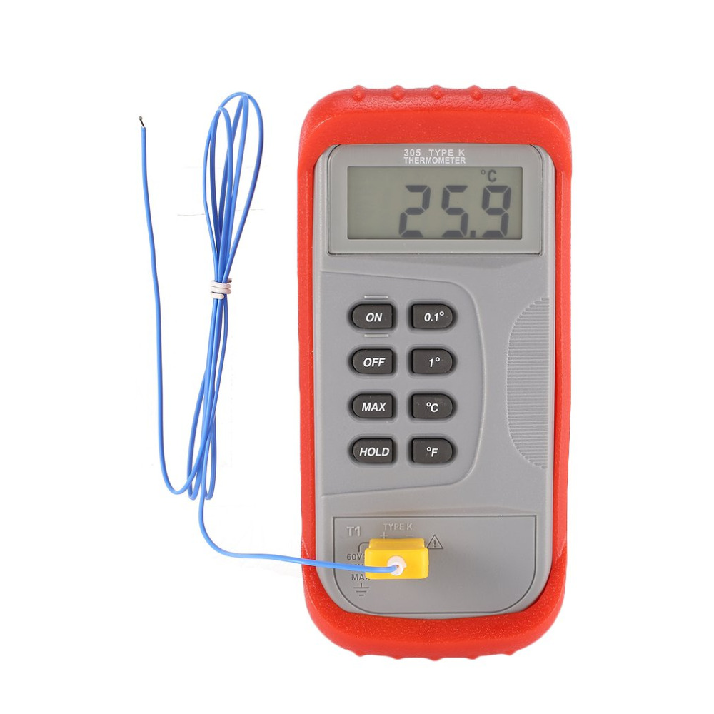 Digital Thermometer Thermocouple Temperature Meter Handheld Tester Measure 50 to 1300C For Dual K type LCD Poratable Drop ship