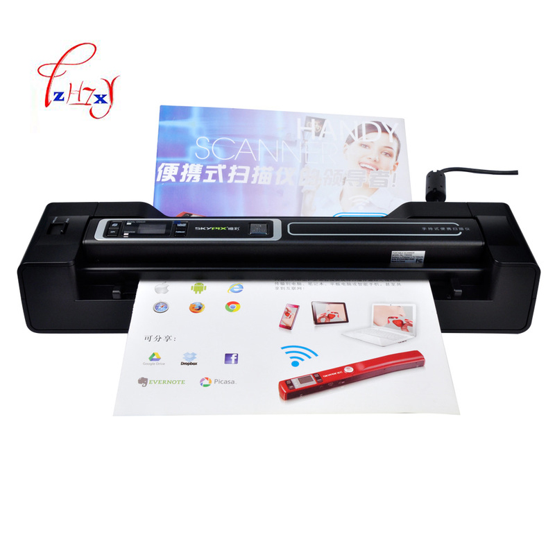Handheld portable scanners HD1200dpi docking Automatic feed A4 Document Photo Scanner USB 2.0 TSN450+A02 1pc l1000 portable hd 10mp 3672x2856 usb camera photo image document book a3 a4 scanner visual presenter high speed ocr scanner a3