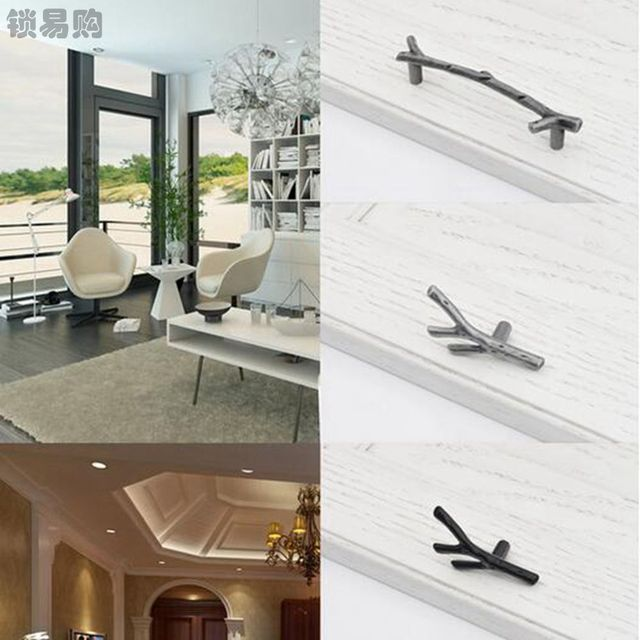 Retro Twig Door Handles Kitchen Cabinets Pulls Tree Branch Drawer ...