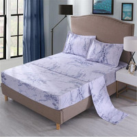 Bedding set Queen size Adult Fitted sheet Bed sheet Pillowcase Roupas de cama King Dust cover Stone texture Blue Purple XHS0082