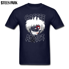T Shirt Tokyo Ghoul Coffee Addict Short T Shirts Slim Fit Short Sleeve Tee
