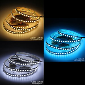 Image 5 - Tira de luces LED 600 de 5M, 5054, resistente al agua/no impermeable, cinta de 12V CC, más brillante que 5050, blanco frío/blanco cálido/azul hielo