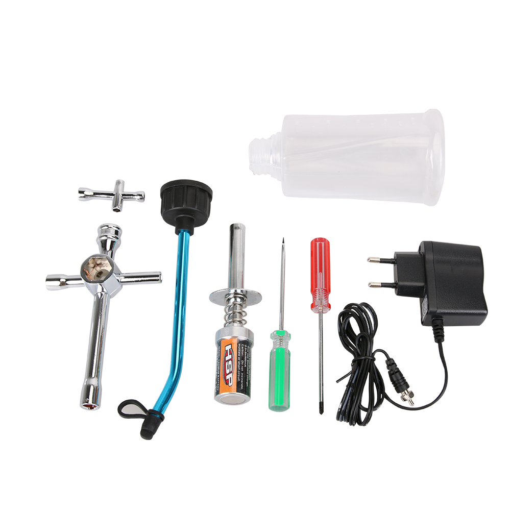New 80141 Original Nitro Starter Kit Plug Igniter Charger Fuel Bottle Set For HSP Redcat For 1/10 1/8 RC Car Nitro Engine jiangdong engine parts for tractor the set of fuel pump repair kit for engine jd495