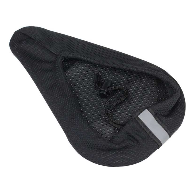 FishSunday Cycling Bike 3D Silicone Gel Pad Seat Saddle Cover Soft Cushion Black M2-13 July05