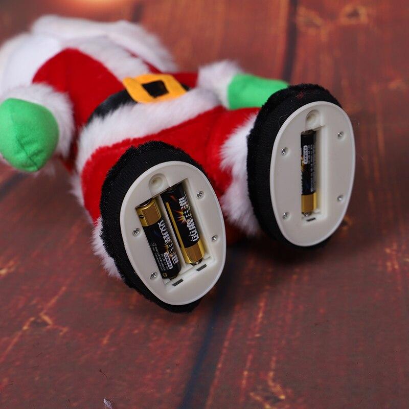 Musique père noël danse en peluche poupée électrique danse chantant jouet cadeau de noël décoration de la maison HOYVOY - 4