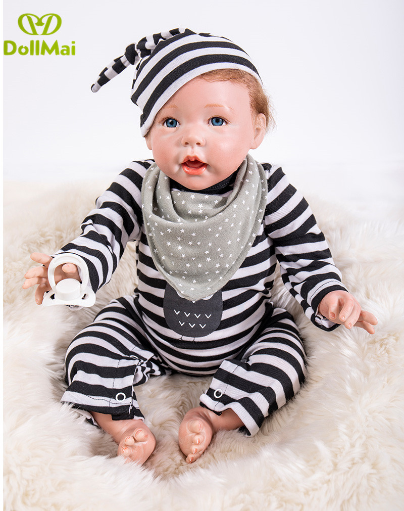 50cm Reborn real touch dolls gift toys silicone 20inch baby dolls adorable vivid boy kids playmate brinquedos bonecas gifts50cm Reborn real touch dolls gift toys silicone 20inch baby dolls adorable vivid boy kids playmate brinquedos bonecas gifts