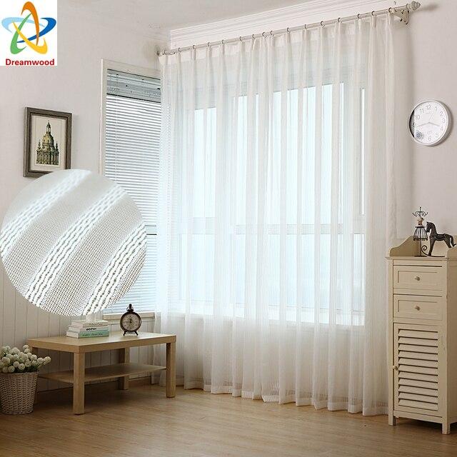 US $11.49 15% OFF|Solide Polyester voile tüll fenster prinzessin vorhänge  gardinen für wohnzimmer drapieren transparent prozess weiß finish größe in  ...