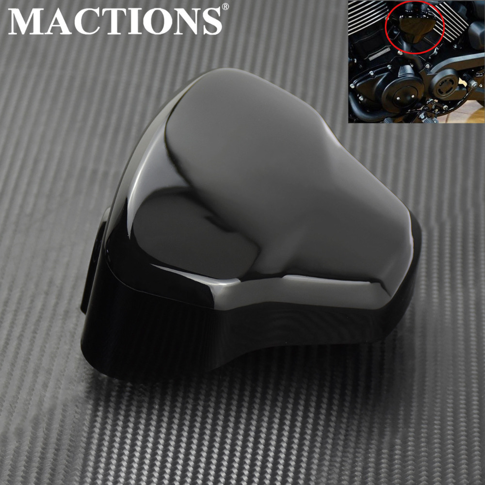 Motorcycle Gloss Black Ignition Coil Trim Panel Cover Cap For Harley Street 500 750 XG500 XG750 2015 2016 2017