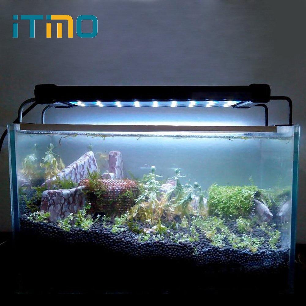 ITimo EU US Plug 6W 36LED 2 Modes Home Decoration Aquarium Fish Tank Lamp 28cm Fishbowl Light Pet Products