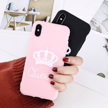King Queen Phone Case For iphone XR XS Max X 8 7 6 6s Plus