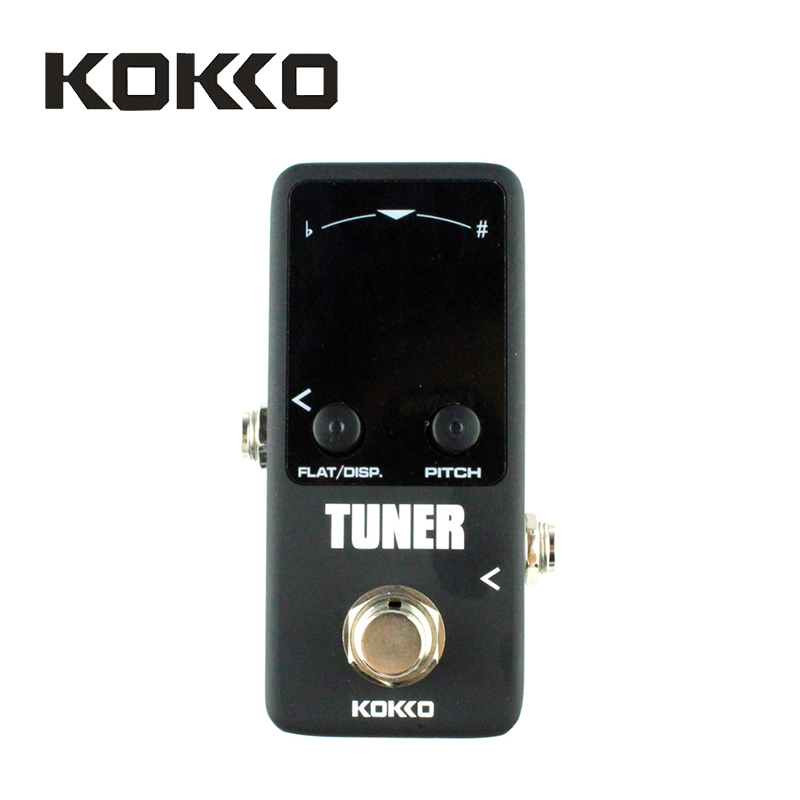 KOKKO FTN2 Chromatic Guitar Tuner Pedal with True Bypass, Black Stompbox for music instruments Guitar Parts Accessories aroma adr 3 dumbler amp simulator guitar effect pedal mini single pedals with true bypass aluminium alloy guitar accessories