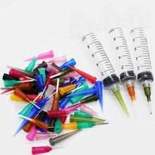 69Pcs/Set  Glue Liquid Dispenser 10CC Syringe SMT SMD PCB Solder Flux Paste Adhesive Glue   EFD Welding Fluxes+3pcs Needle Cap