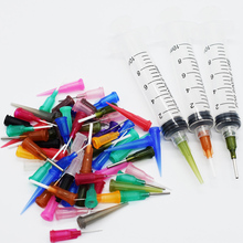 Dispensador de pegamento líquido, jeringa de 10CC SMT SMD PCB, pasta de flujo de soldadura, pegamento adhesivo EFD + tapa de aguja, 69 Uds./Set