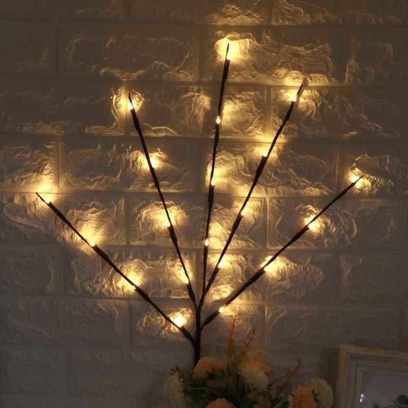 Светодиодный светильник-ветка подсветка в виде цветов 20 ламп Рождественский подарок на день рождения подарки Искусственный цветы садовый декор