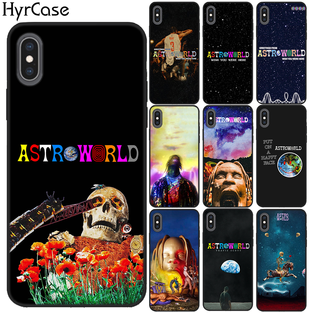 Travis Scott Phone Cases Astroworld Sicko Mode For iPhone X 6 7 8 Plus 5 5S 6S SE Soft Silicone Black Cover For iPhone XS Max XR marvel glass iphone case