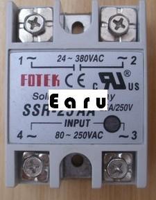 Entrée de SSR-25AA à ca monophasé du relais à semi-conducteurs 25A ca 80-250VAC