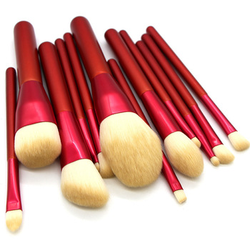 12pcs high quality facial eye makeup brush set eye shadow foundation blush art brush professional beauty tools