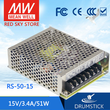 цена на Valuable MEAN WELL original RS-50-15 15V 3.4A meanwell RS-50 15V 51W Single Output Switching Power Supply