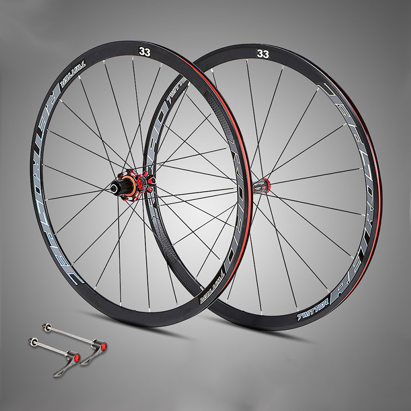 700C 33 Rim Road Bicycle Wheelset Aluminium 4 Bearing Wheels Carbon Hub Bike Wheel for Road Bike Parts700C 33 Rim Road Bicycle Wheelset Aluminium 4 Bearing Wheels Carbon Hub Bike Wheel for Road Bike Parts