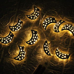 Image 5 - Islamic Eid Ramadan Decor 10/20 LED String Light Golden moon Star Home Decoration Lantern For Islam Muslim Party Decor Gift