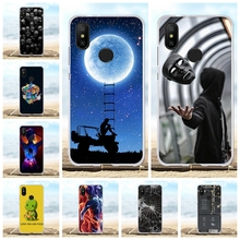 For Xiaomi Mi A2 6X Case Ultra-thin Soft TPU Silicone Cover Scenery Patterned Coque Shell