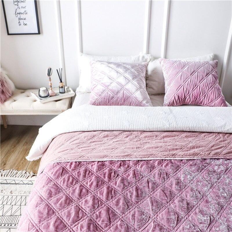 Couvre lit en tissu polaire de Style européen de luxe taies d'oreiller drap de lit couverture de lit colchas para cama couvre lit-in Ensembles de literie from Maison & Animalerie    3