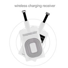 Universal Qi Wireless Charger Receiver For iPhone 5 5S 7 6S 6 Plus Pad Android Micro USB Type C Smart Charging Receptor(China)