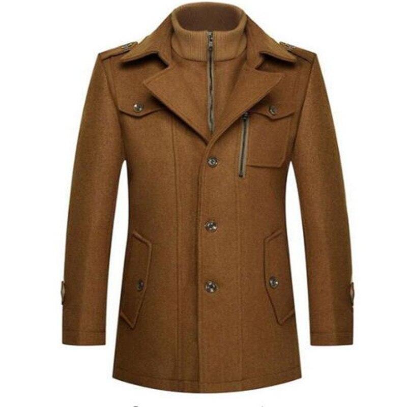 2017 New Arrival Men's Woolen Coat Mens Cold Winter Coat