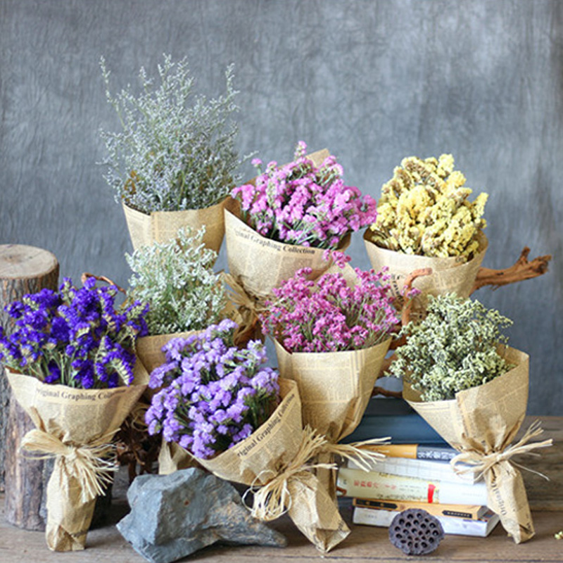Wedding Bouquets Not Flowers: One Bunch Forget Me Not Flower Bouquet Natural Dried