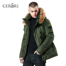 купить Gersri Winter Jacket Men Padded Parka Mens Thicken Cotton Coat Warm Male Winter Coat Artificial Fur Big Pockets Thick Parkas по цене 3620.64 рублей