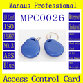 High Quality 100Pcs Blue RFID 125khz Chip Wholesale Contactless Tag Proximity Access Control Card ID Keyfob Token C-26