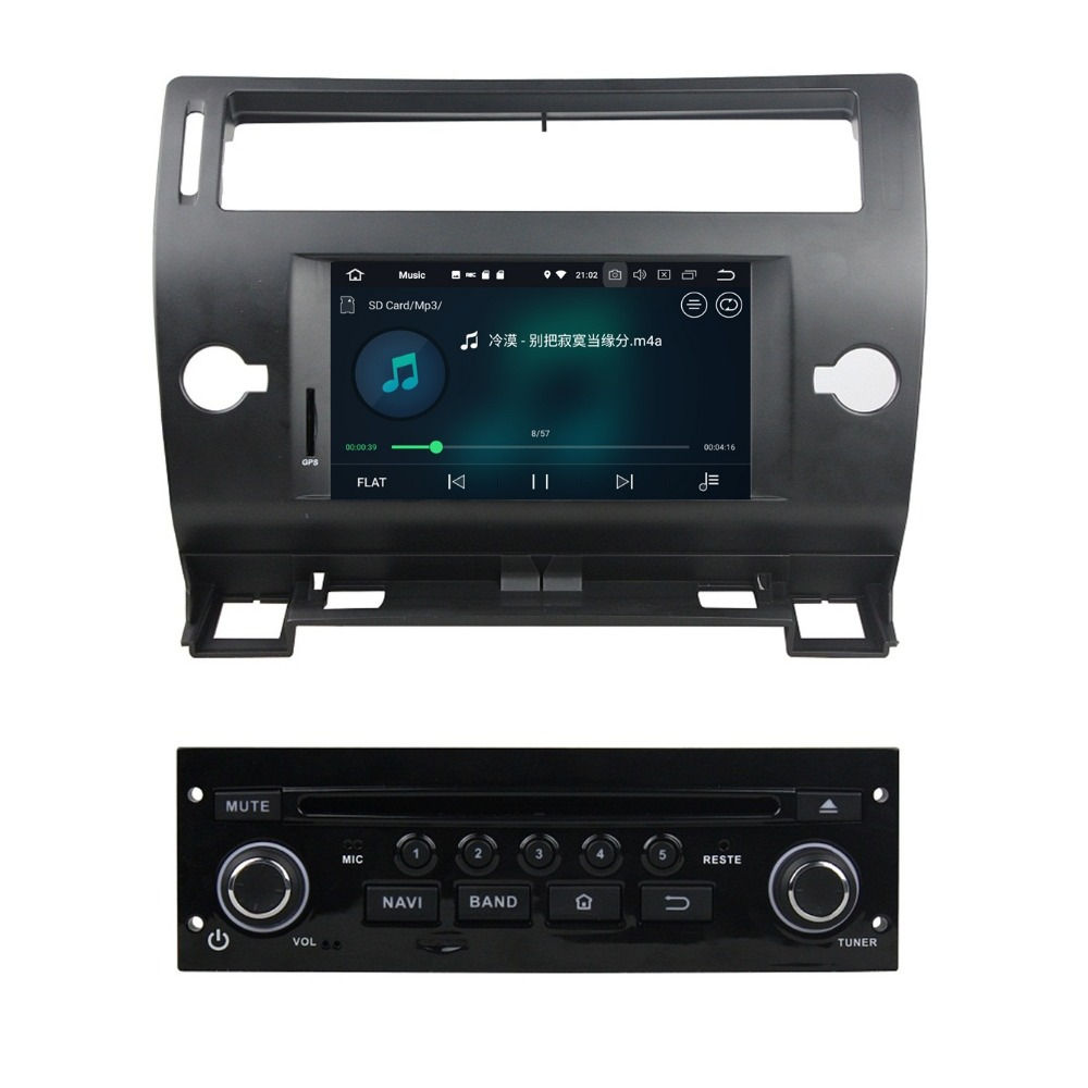 4GB+32GB Octa Core Android 8.0 Car Audio DVD GPS for Citroen C4 2005 2006 2007 2008 2009 2010 2011 Car Radio WIFI Bluetooth
