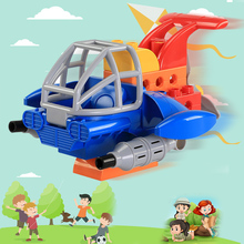 12 Pcs big particle Building Block aircraft classic DIY Educational toys Bricks fighter child Toy Birthday gift