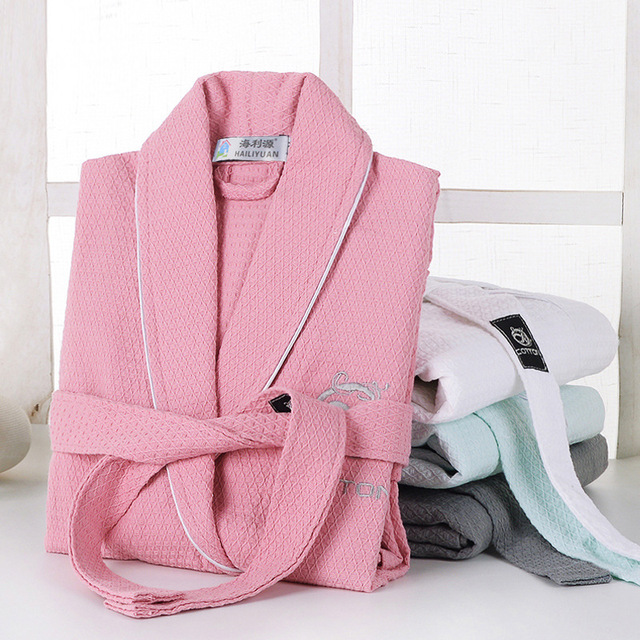 hot  new Ultrafine 100% cotton bathrobes loop pile long-sleeve sleepwear lovers bathrobe robe