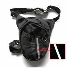 Качественная Водонепроницаемая нейлоновая поясная сумка, многофункциональные карманы, Мужская черная мотоциклетная сумка для ног, для улицы