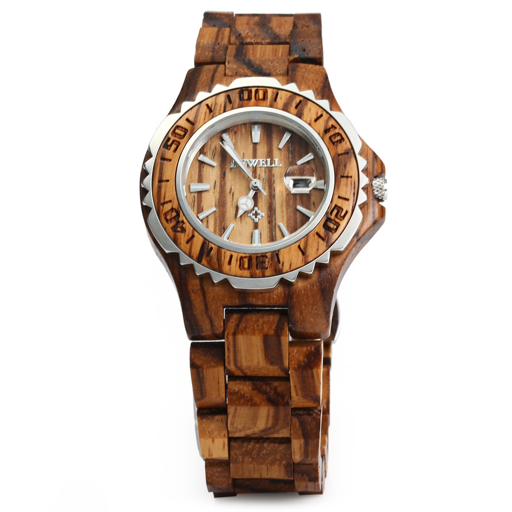 BEWELL Woman Watches Brand Luxury Wooden Quartz Watch Waterproof Luminous Hands Calendar Women Wristwatch relogio feminino кастрюля с крышкой metrot оливки